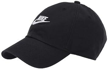 5f7e682f NIKE Sportswear Unisex H86 Futura Cap, Black/Black/White, One Size ...