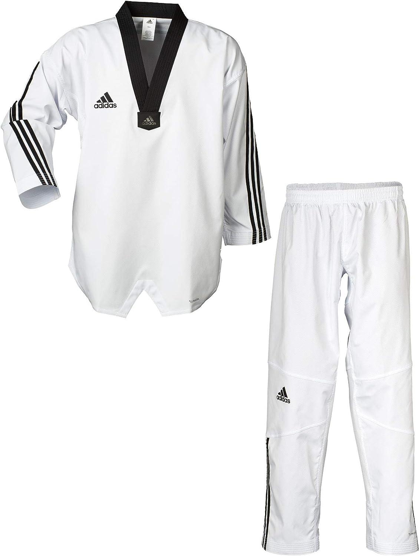 complicaciones Estadísticas danés  Amazon.com: adidas Adi-Flex 3 Striped WTF Approved 100% Flexible Polyester  Taekwondo Uniform: Clothing