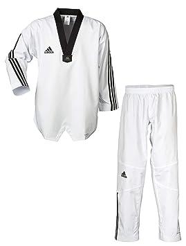 adidas Dobok Taekwondo Adi-Flex Cuello Negro: Amazon.es: Deportes ...