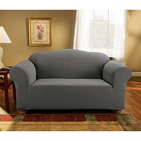 Amazon.com: Sure Fit simple Stretch Subway Loveseat ...