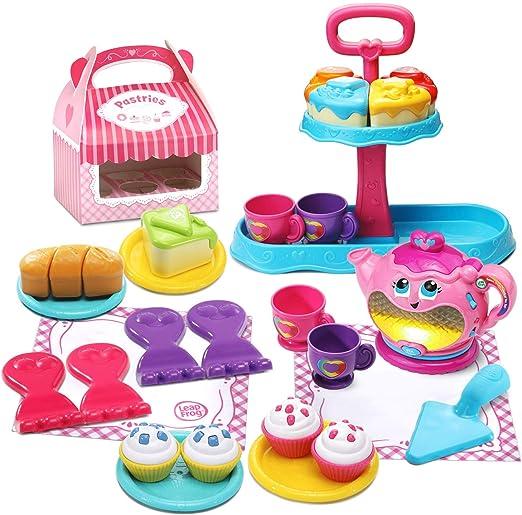 Amazon.com: LeapFrog Sweet Treats Musical Deluxe Tea Set (Amazon Exclusive): Toys & Games