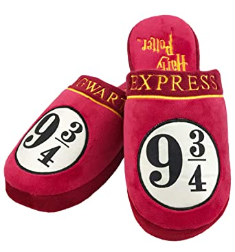 171dd9906b4 Groovy Uk Harry Potter 9 and 3 4 Hogwarts Express Slippers  Amazon.co.uk   Clothing