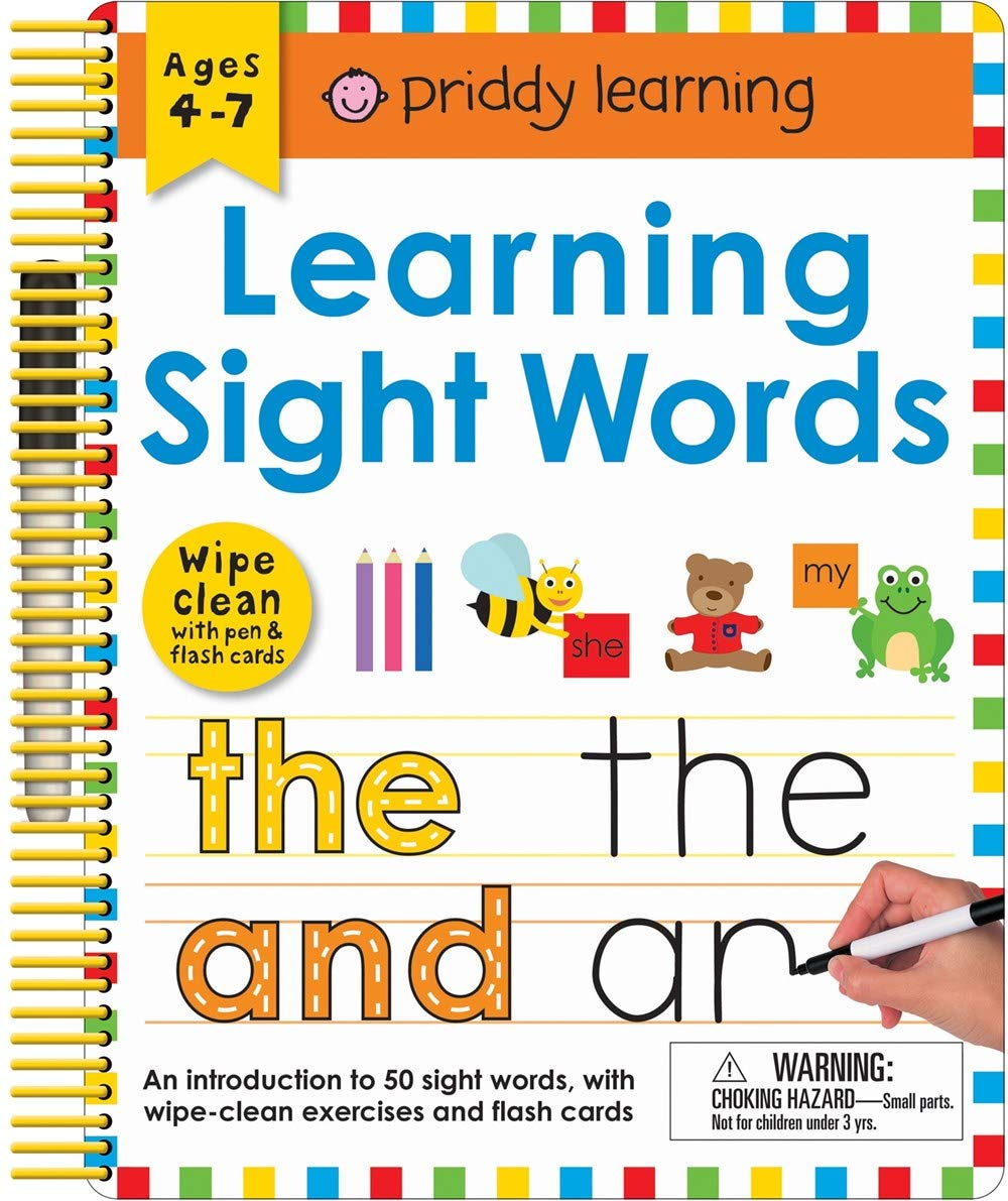 Wipe Clean: Learning Sight Words: Includes a Wipe-Clean Pen and Flash  Cards! (Wipe Clean Learning Books): Roger Priddy: 9780312520076:  Amazon.com: Books