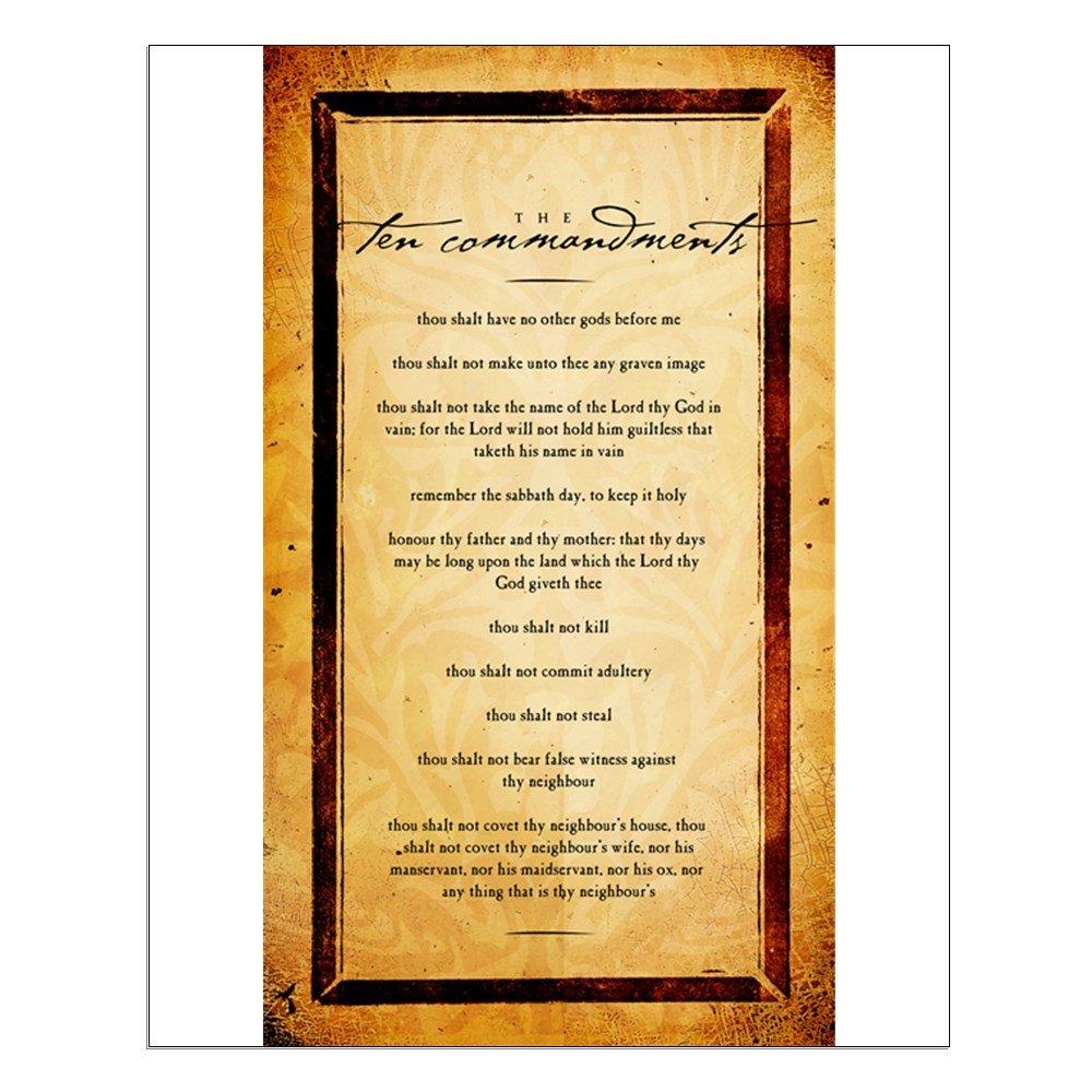 Amazon.com: CafePress - The Ten Commandments Artwork - 16\