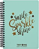 TINYCHANGE TinyWins Undated Daily Planner and Wellness Tracker with Reusable Sleeve Cover