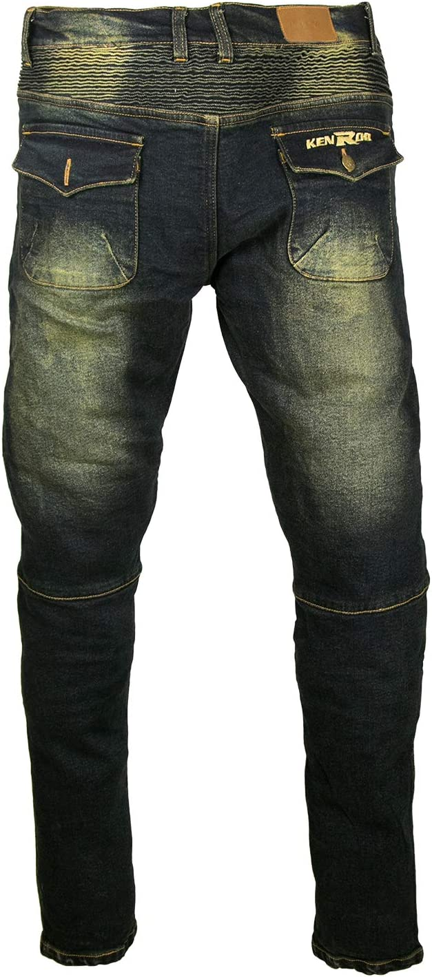 Jeans Motards Pantalon Renforc/ée Jean Moto Homme Protection Pantalon Motards Homme KEN ROD Pantalon Homme Moto