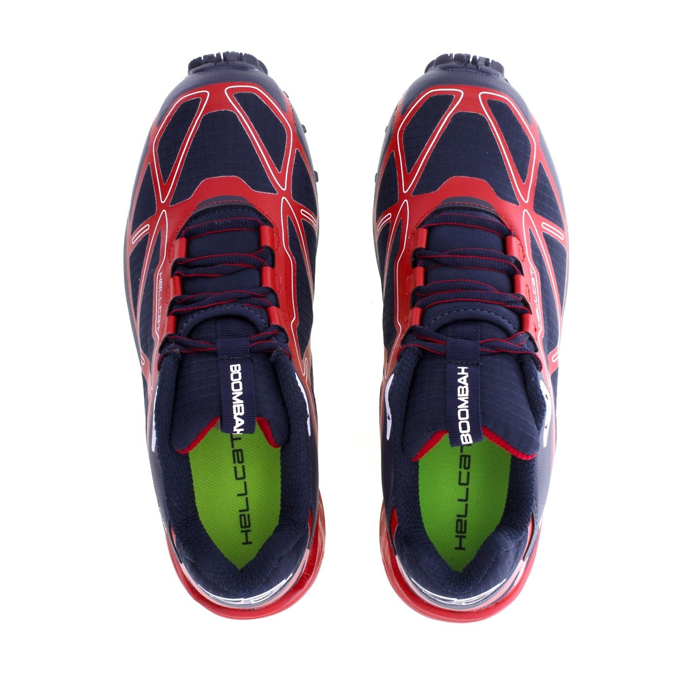 Boombah Men's Hellcat Trail Shoe - 14 Color Options - Multiple Sizes B073X65M95 13|Navy/Red