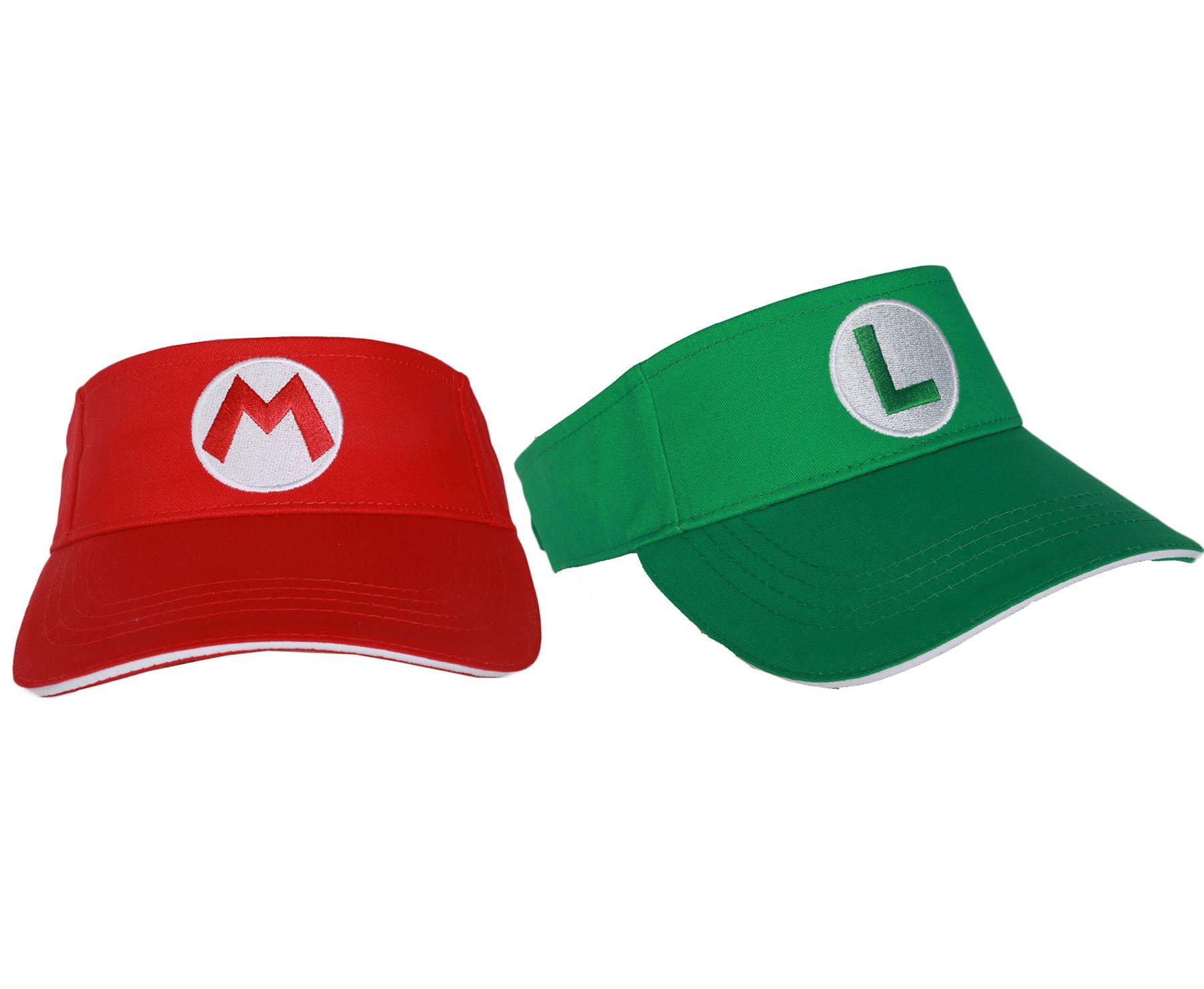 Mario Luigi Tennis Aces Snapback Hat Dressing Up Headwear 2pcs