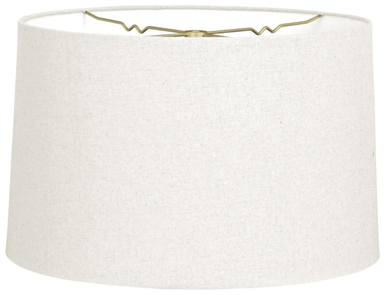 Royal Designs Shallow Drum Hardback Lamp Shade, Linen White, 17 x 18 x 11.5