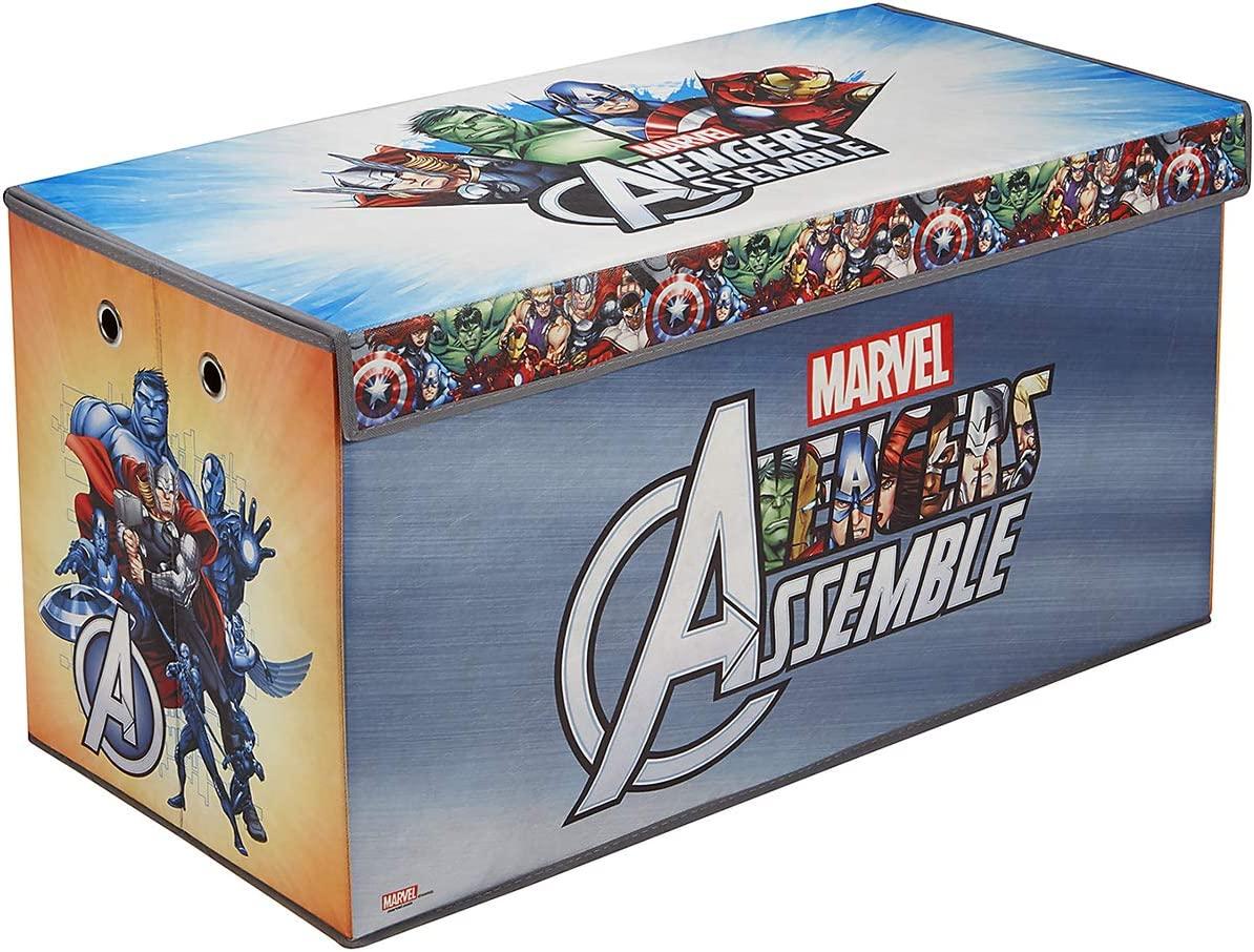 Avengers Folding Soft Storage Bench, Perfect Toy Box or Chest for Playrooms, Officially Licensed Product
