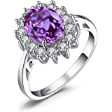 Jewelrypalace Diana Created Alexandrite Sapphire Created Ruby Nano Russian Simulated Emerald 925 Sterling Silver Ring