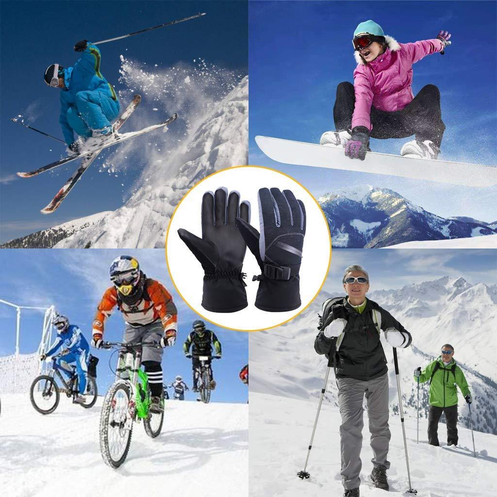 Gants Ski,Gants Hiver Chaud Homme et Femmes,-20℃ Isolation à Froid,Étanches Anti-dérapant et Coupe-Vent,Gants Sports d\'hiver en Plein Air pour Ski,Snowboard,Moto,Cyclisme