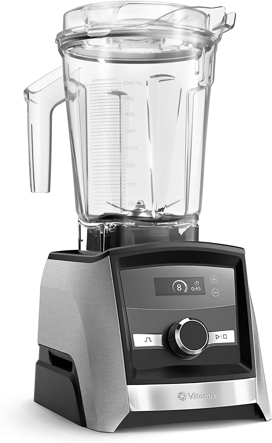 Vitamix A3300 Ascent Series Smart Blender, Professional-Grade, 64 oz. Low Profile Container, Brushed Stainless Finish
