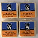 Sharp Cheddar Raw Milk Goat Cheese - Four 8 oz. Packs