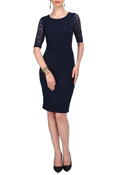Amazon.com: Francés de la mujer Lace Shift Vestido 1950s ...