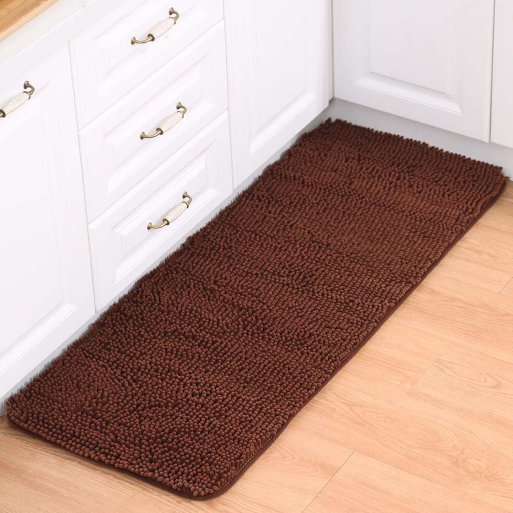 Non-Slip Rug Absorbent Doormat Bathroom Rug Living Room Rug Kitchen Rug, Brown, 40 * 60Cm DUXX