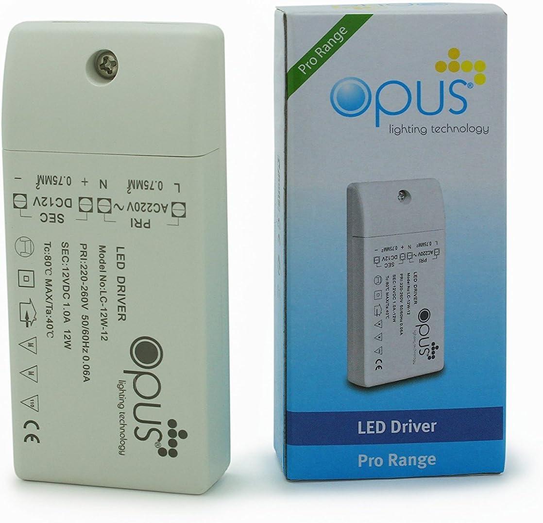 Opus Transformador LED Convertidor AC 220V A DC 12V PA L/ÄAMPARA MR16 MR11