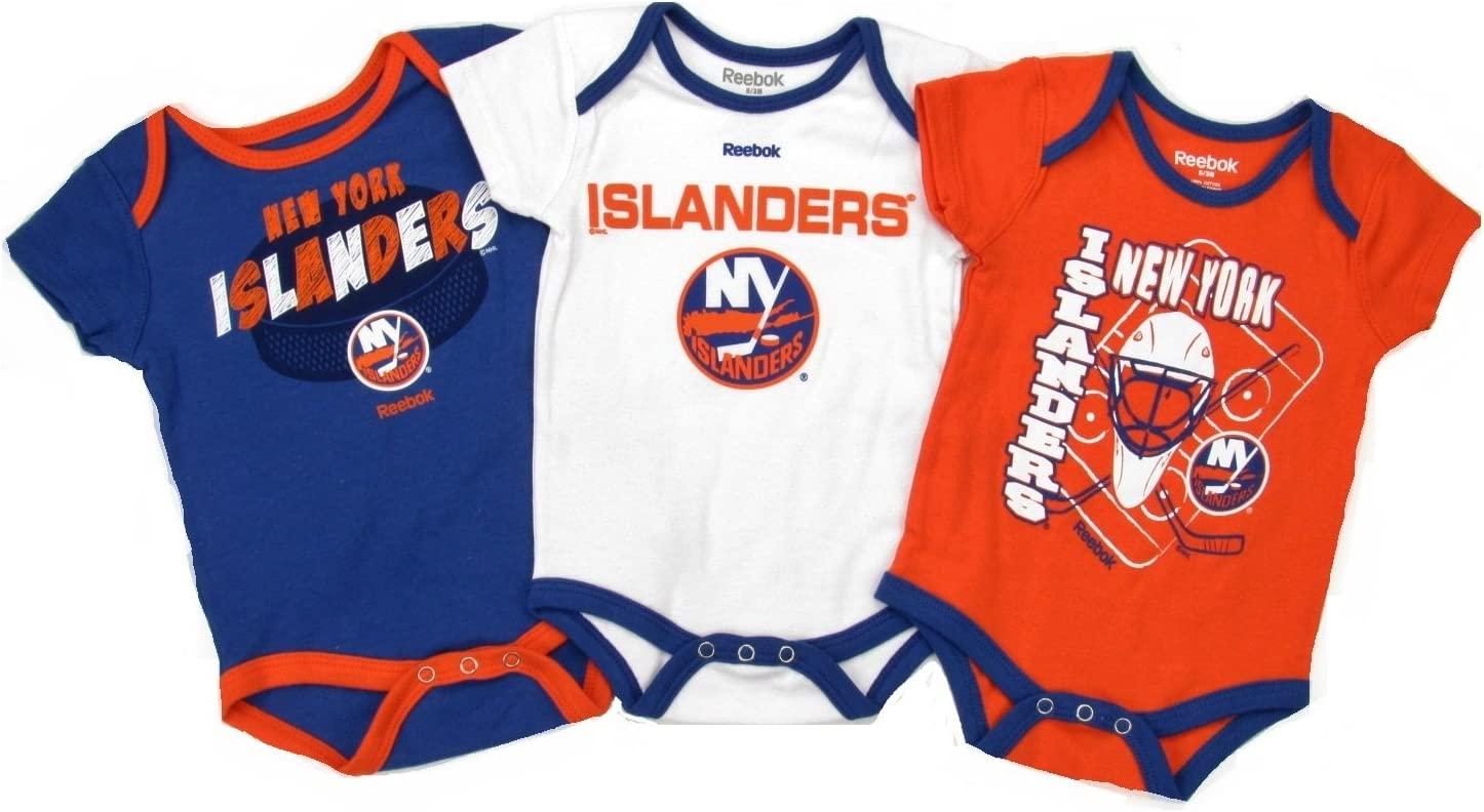 New York Islanders Lil Jersey Creeper Bib /& Bootie Newborn Infant Set