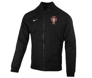 Nike FPF AUTH Varsity Jacket - Sudadera de la línea Federación Portuguesa de Fútbol para Hombre, Color Blanco, Talla M: Amazon.es: Deportes y aire libre