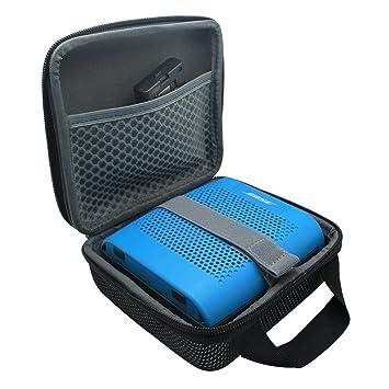 co2CREA Duro Viajar Fundas Caso Cubierta Estuche para Bose SoundLink Color II Altavoz Bluetooth (Negro)