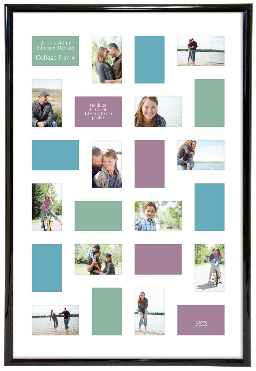 Amazon.com: MCS Trendsetter 27x40 Inch Collage Frame, Black (65552 ...