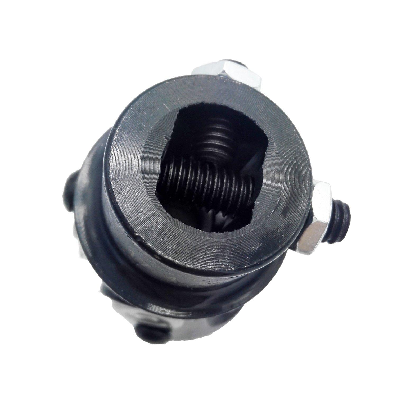9//16-26 Spline x 3//4 Round Single Black Universal Steering Shaft U Joint New
