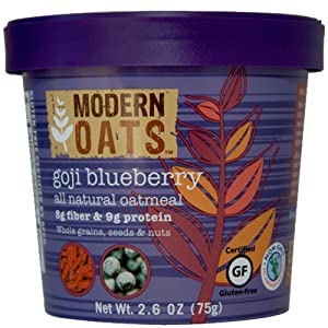 Modern Oats Goji Blueberry Oatmeal, 2.6 Ounce (Pack of 6)