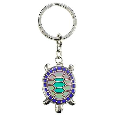 Blue Bug l'humeur porte-clés en métal par sa forme de tortue