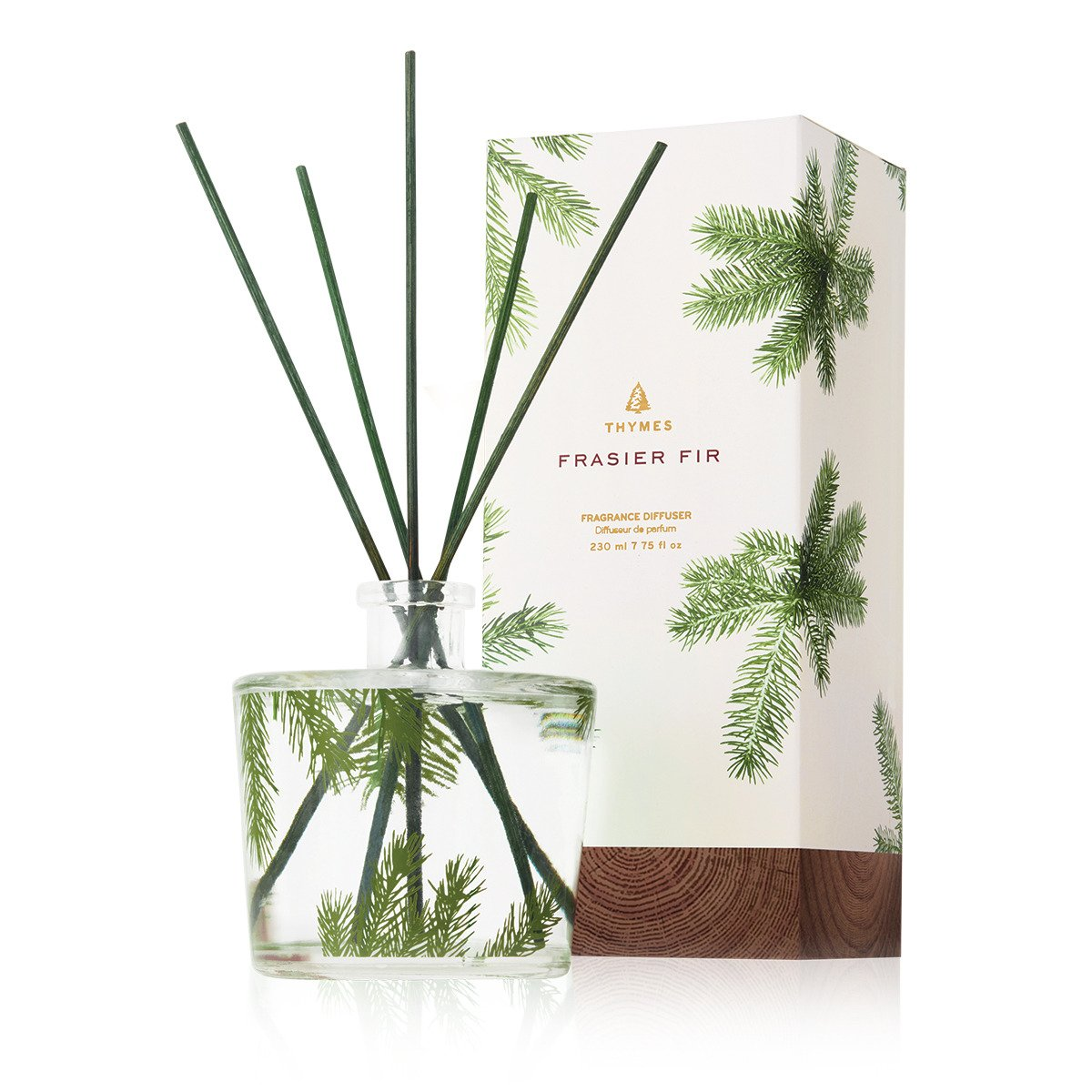 Thymes - Frasier Fir Reed Diffuser - Pine Needle Design - 7.75 Ounces by Thymes