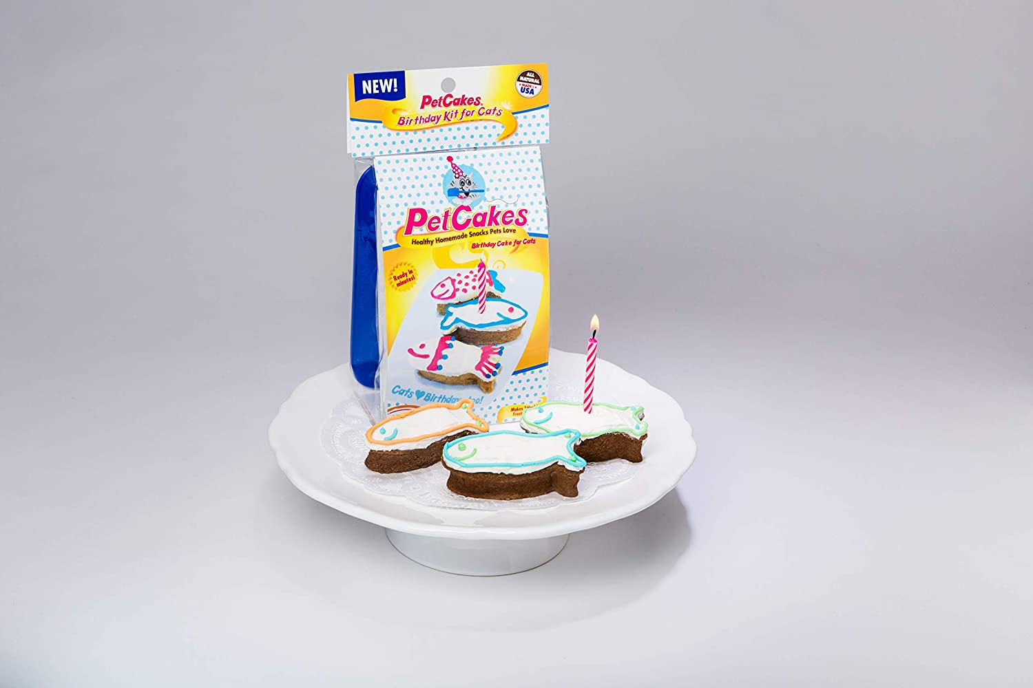 Tremendous Petcakes Cat Birthday Cake Kit Bdr Ct Birthday Cake Refill Cat Personalised Birthday Cards Veneteletsinfo