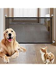 LLYWCM Garde de Maille Portatif Garde Magique Barrière Porte Animaux Installent Facilement la Barrière Sécurité pour l'escalier Porte Hall (S, Couleur 1)