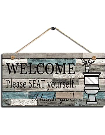5774ac71605 Smarten Arts Printed Wood Plaque Sign Wall Hanging Welcome Sign Please Seat  Yourself Wall Art Sign