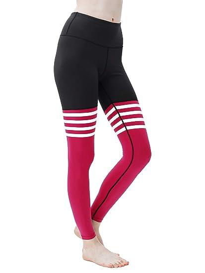 74f3e4f0d Queenie Ke Women Yoga Leggings Knee-high Sock Pants Workout Running Tights   Amazon.co.uk  Clothing