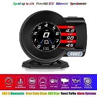 HUD OBD2 Display OBD-II Diagnostic Tool 6 Display Modes RPM Speedometer Fatigue Driving Alarm Water Temperature Alarm…