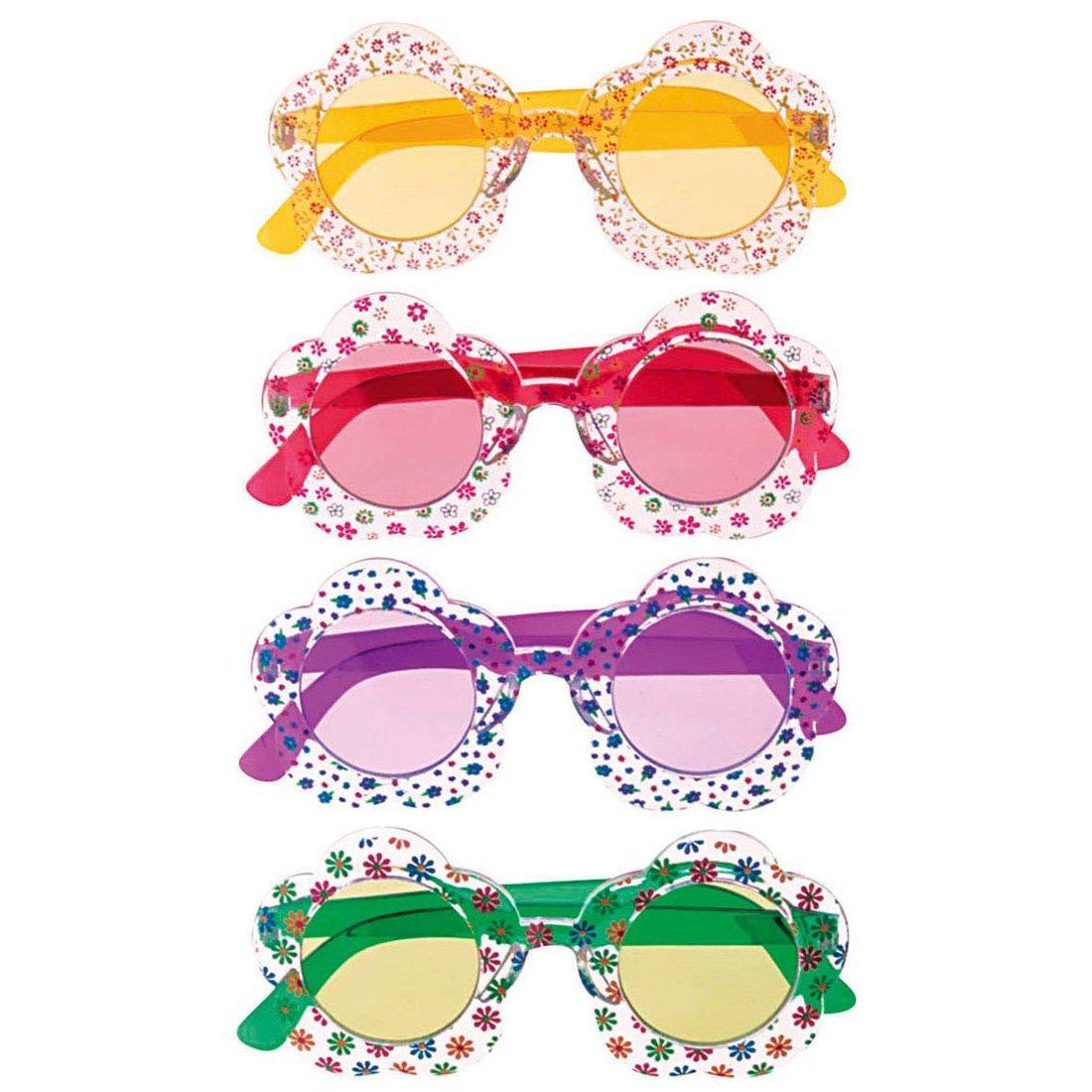 c75bb5fa83 Gafas hippie años 70 accesorios carnaval anteojos amarillos: Amazon.es:  Juguetes y juegos