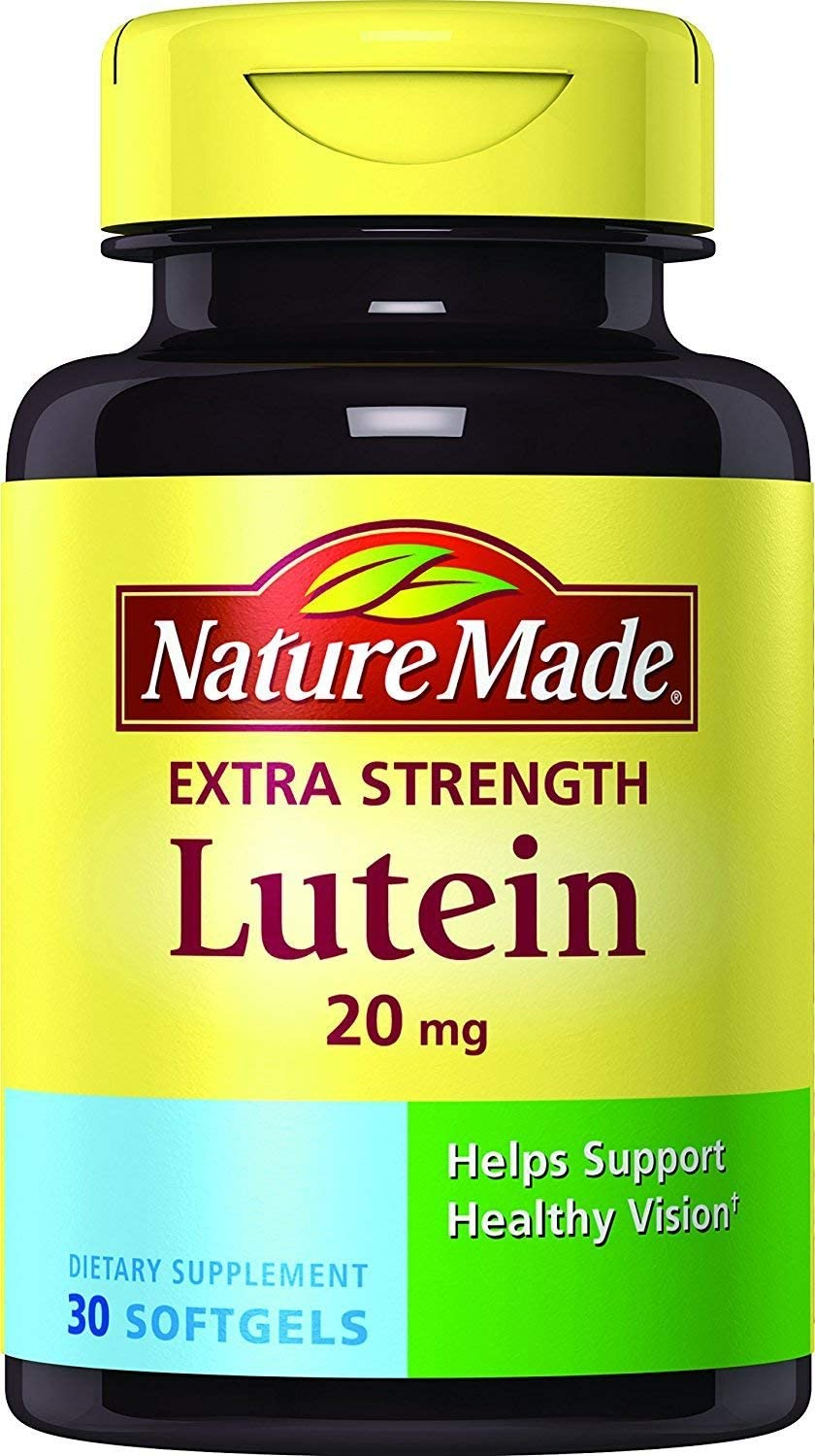 Nature Made Extra Strength Lutein 20 mg Softgels, 30 Count (Pack of 2)
