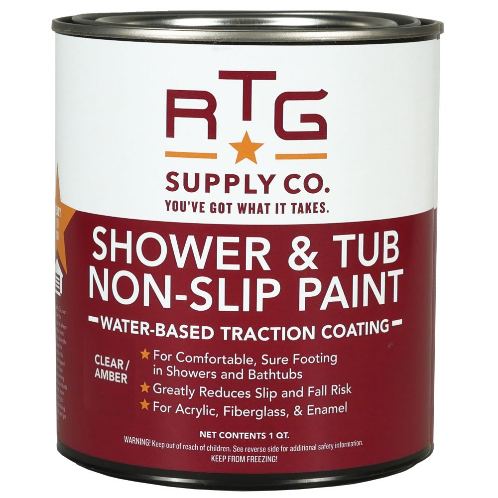 RTG Shower & Tub Non-Slip Paint (Quart, Clear/Amber) - - Amazon.com