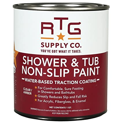 Amazing RTG Shower U0026 Tub Non Slip Paint (Quart, Clear/Amber)