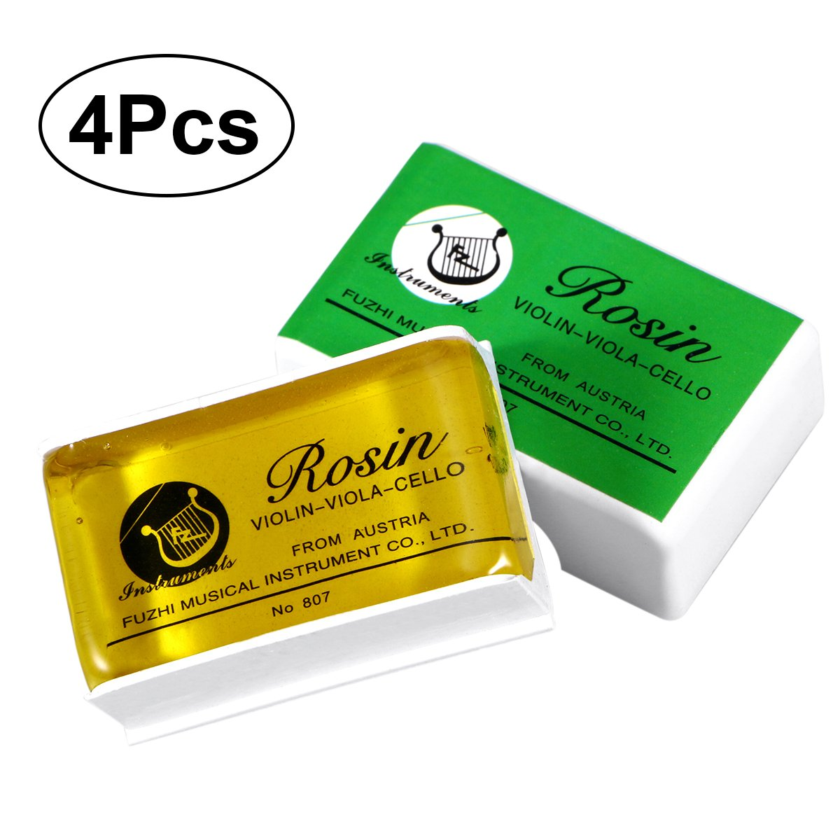 ROSENICE Natural Low Dust Special Clean Rosin for Violin Viola and Cello 4 Pcs 5236N10EOAM
