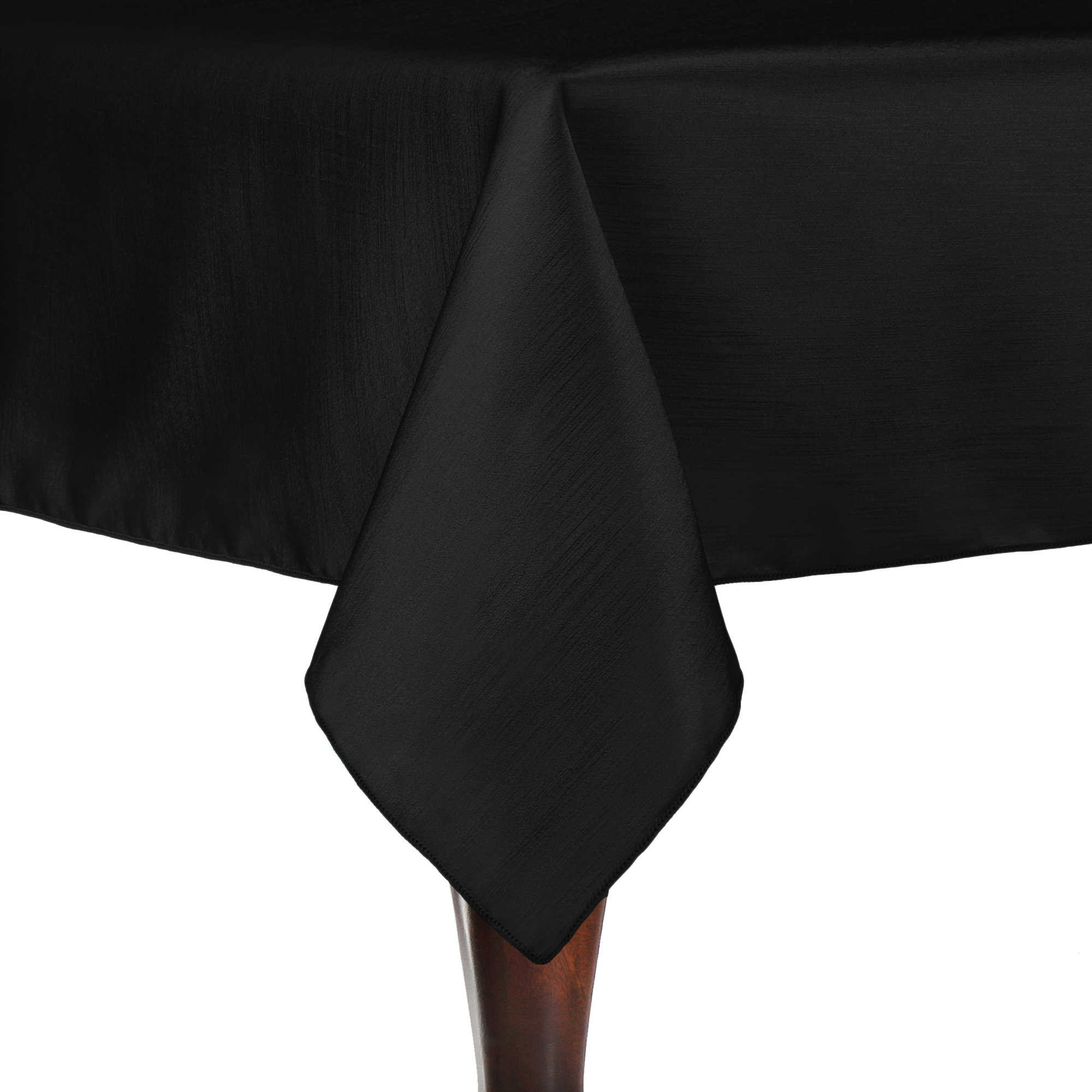Ultimate Textile (10 Pack) Reversible Shantung Satin - Majestic 72 x 72-Inch Square Tablecloth - for Weddings, Home Parties and Special Event use, Black