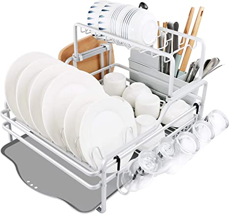 New and Large Clear Drain Board Kitchen Dish Drying Rack Drainboard Sink Drainer