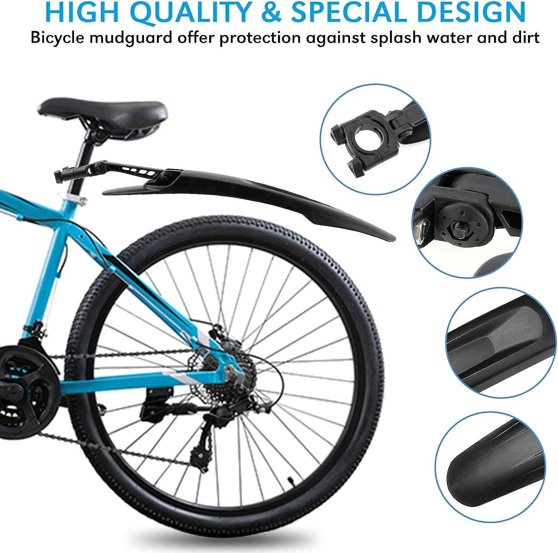 Migimi Fahrrad Schutzblech Set 24-29 Zoll Fahrrad Steckschutzblech f/ür MTB Mountainbike Fahrradschutzbleche Fahrrad Mudguard Kotfl/ügel f/ür vorn /& hinten