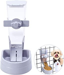hipidog Pets Food Hanging Bowl for Crates & Cages Hanging Pet Cage Feeder for Small &Medium Animals Cats Dogs Automatic Feeder