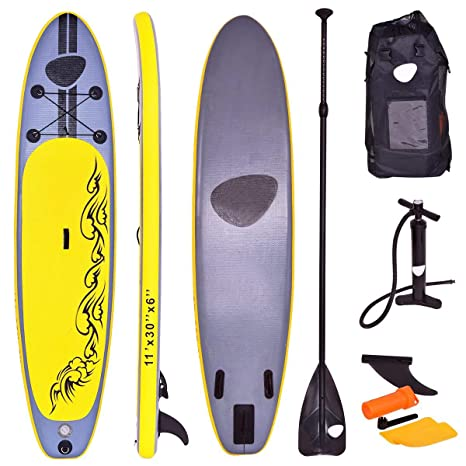 COSTWAY Tabla Hinchable Paddle Surf 335 x 76 x15 Centímetros Sup Board con Remo de Ajustable Bomba Bolsa de Transporte