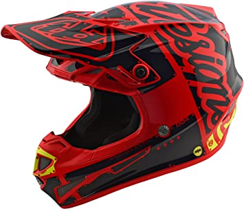 Casco Mx Niño Troy Lee Designs 2018 Se4 Factory Rojo (L Niño , Rojo)