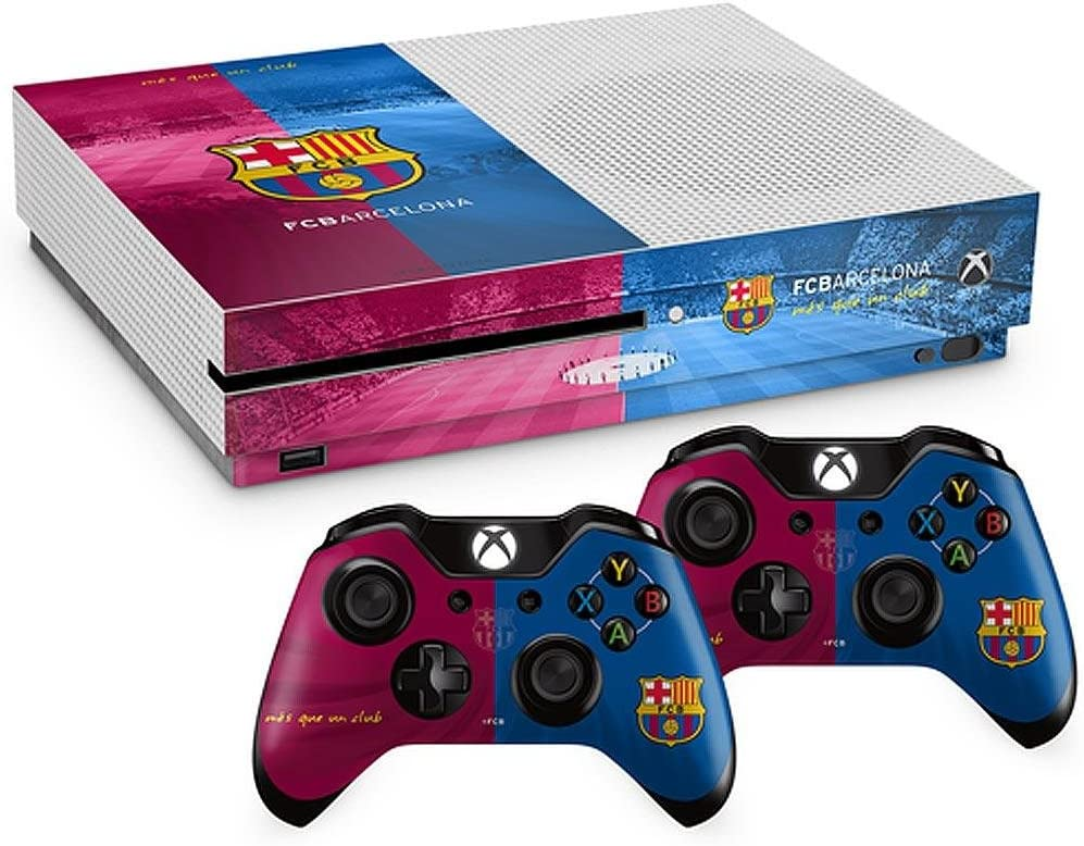 Oficial Barcelona FC Xbox One S Carcasa para Mando de Consola Piel y 2 x Combo Pack: Amazon.es: Deportes y aire libre