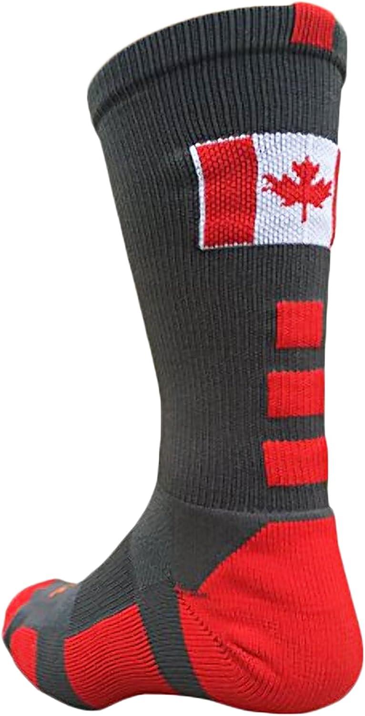 TCK Canada - Calcetines deportivos con diseño de la bandera de Canadá, Niños Mujer niña Hombre, multicolor, small: Amazon.es: Deportes y aire libre