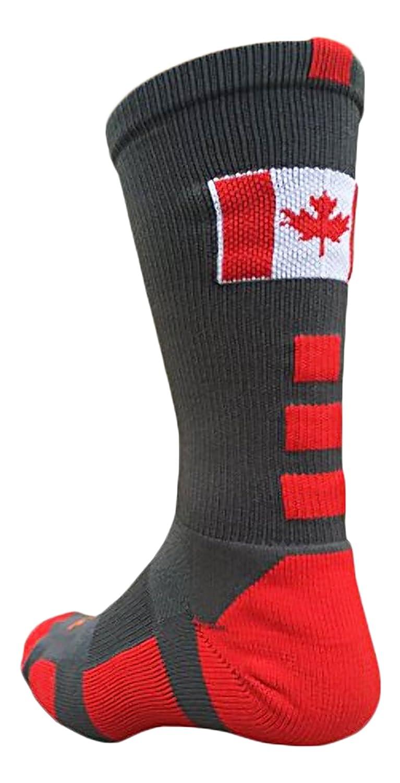 Canada Flag Baseline Crew Socks