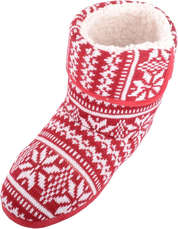 SNUGRUGS Mens Knitted Style Warm Fleece