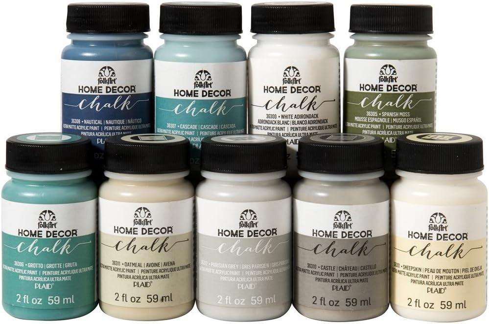 FolkArt Home Décor Chalk Finish Paint Set (2 Ounce), PROMOFAHDC, Top Colors